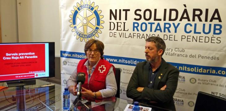 La Creu Roja de l'Alt Penedès és l'entitat beneficiària de la 14ª Nit Solidària del Rotary Club de Vilafranca